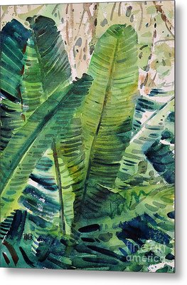 Banana Leaves Metal Print by Donald Maier