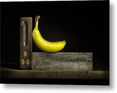 Bananas Ain't Square Metal Print by Nigel R Bell