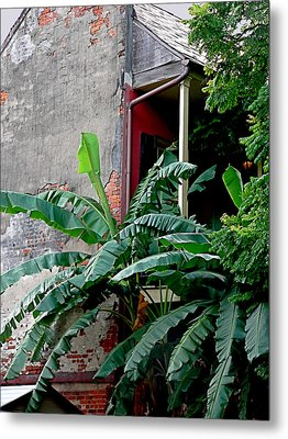 Bananas And Bricks Metal Print
