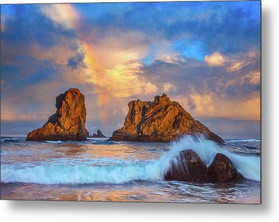 Bandon Rainbow Metal Print by Darren White