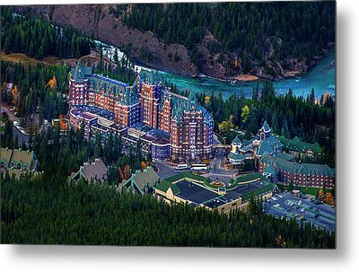 Banff Springs Hotel Metal Print by John Poon