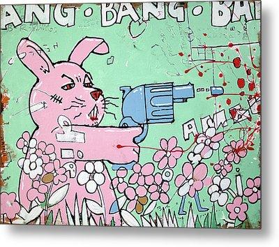 Bang Bang Bunny Metal Print by H James Hoff