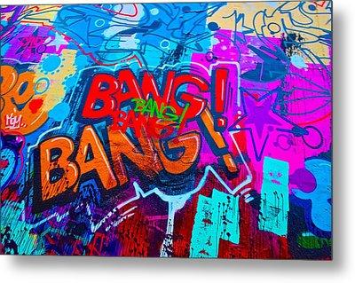 Bang Graffiti Nyc 2014 Metal Print by Joan Reese