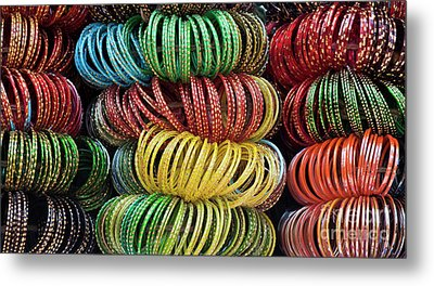 Metal Print featuring the photograph Bangles Of India by Tim Gainey