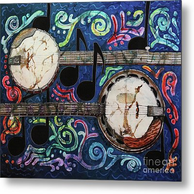 Banjos Metal Print by Sue Duda