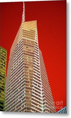 Bank Of America Tower Pop Art Metal Print by John Rizzuto