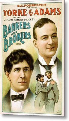 Bankers And Brokers Metal Print