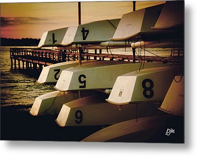 Metal Print featuring the photograph Banks Channel Boat Stack by Phil Mancuso