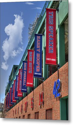 Banners Of Glory - Fenway Park - Boston Metal Print