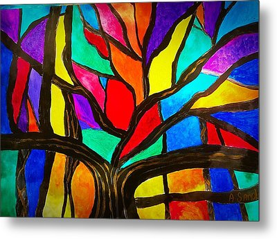 Banyan Tree Abstract Metal Print