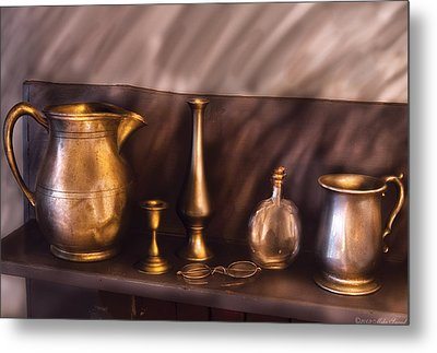 Bar - Ready For A Drink Metal Print by Mike Savad