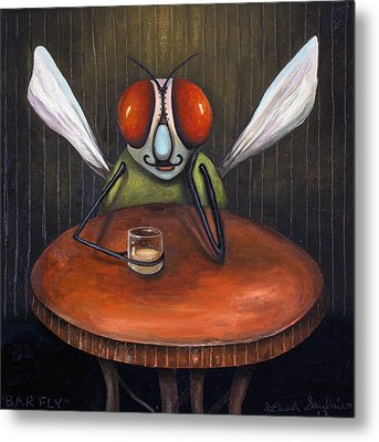 Bar Fly Metal Print by Leah Saulnier The Painting Maniac