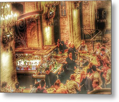 Metal Print featuring the photograph Bar Scene by Marianne Dow