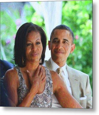 Barack And Michelle Obama Metal Print