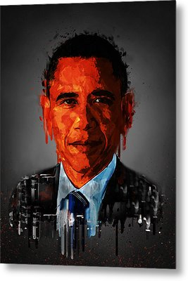 Barack Obama Acrylic Portrait Metal Print
