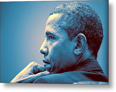 Barack Obama At White House 1 Metal Print by Celestial Images