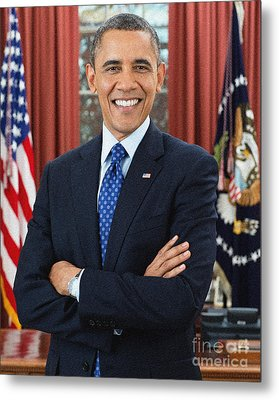 Barack Obama Metal Print by Celestial Images