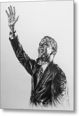 Barack Obama Metal Print by Darryl Matthews
