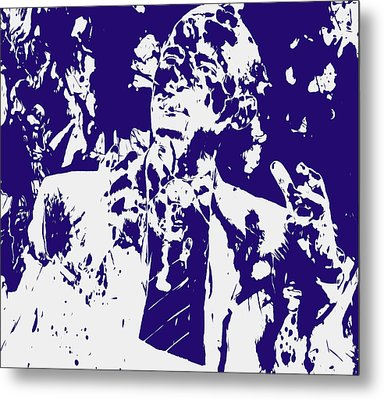 Barack Obama Paint Splatter 4a Metal Print by Brian Reaves