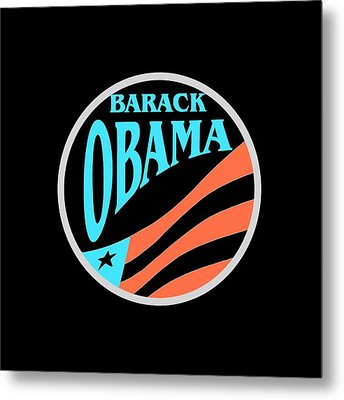 Barack Obama Design Metal Print