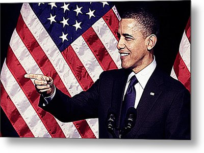 Barack Obama Metal Print by Iguanna Espinosa