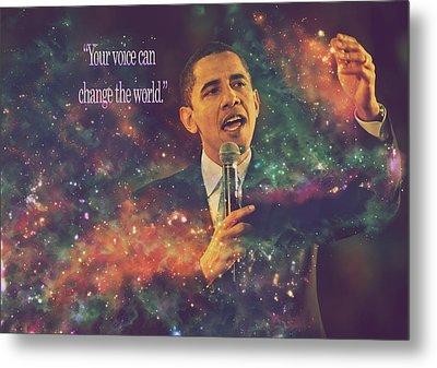 Barack Obama Quote Digital Artwork Metal Print
