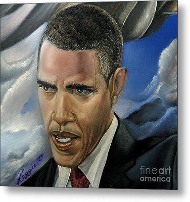 Barack Metal Print by Reggie Duffie