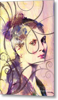 Barbara Blue Metal Print by Kim Prowse
