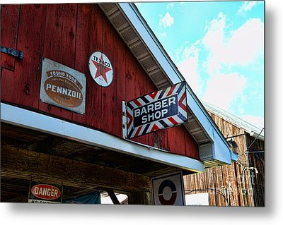 Barber - Old Barber Shop Sign Metal Print by Paul Ward