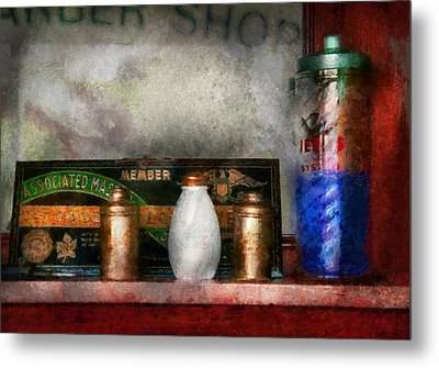 Barber - Things You Stare At  Metal Print by Mike Savad
