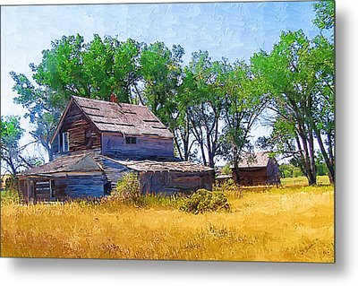 Metal Print featuring the photograph Barber Homestead by Susan Kinney