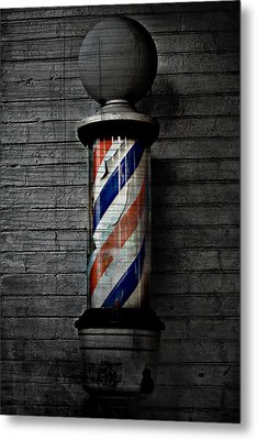 Barber Pole Blues  Metal Print by Jerry Cordeiro