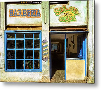 Barber Shop Metal Print by Dominic Piperata