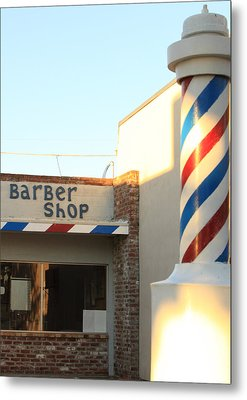 Barber Shop Metal Print by Troy Montemayor