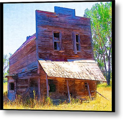 Metal Print featuring the photograph Barber Store by Susan Kinney