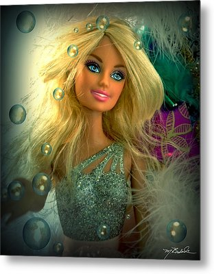 Barbie Bubbles In Hdr Metal Print