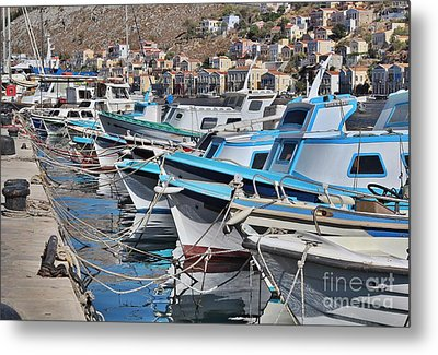 Harbour Of Simi Metal Print by Wilhelm Hufnagl
