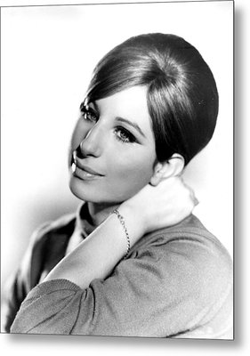 Barbra Streisand, Portrait From Funny Metal Print