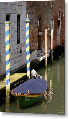 Barca Blue Metal Print