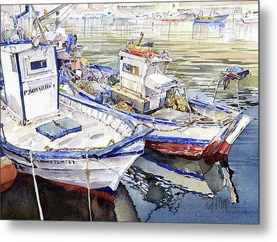 Barcas En El Puerto Almeria Metal Print