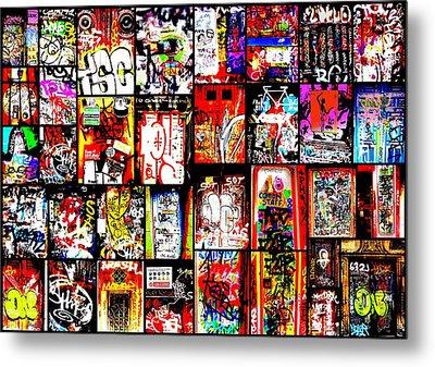 Barcelona Doors  Metal Print by Funkpix Photo Hunter