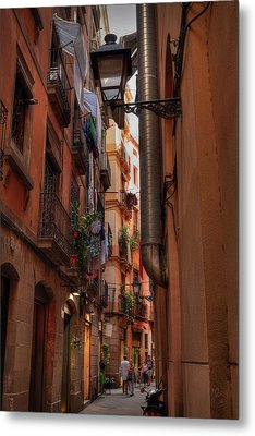 Metal Print featuring the photograph Barcelona - Gothic Quarter 002 by Lance Vaughn