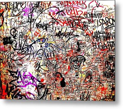 Barcelona Graffiti Heaven Metal Print