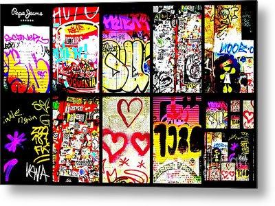 Barcelona Graffiti Wall  Metal Print by Funkpix Photo Hunter