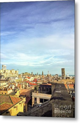 Metal Print featuring the photograph Barcelona Rooftops by Colleen Kammerer