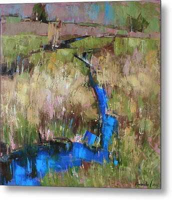 Metal Print featuring the painting Barefoot In The Dew  by Anastasija Kraineva