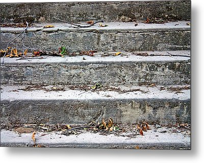 Metal Print featuring the photograph Barge Town Grocery Steps by KayeCee Spain