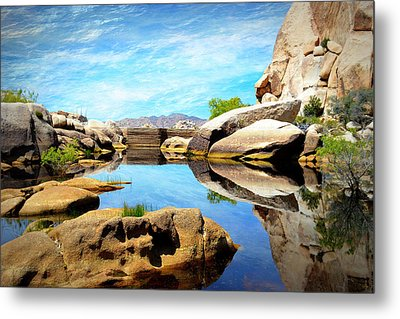 Metal Print featuring the photograph Barker Dam - Joshua Tree National Park by Glenn McCarthy Art and Photography