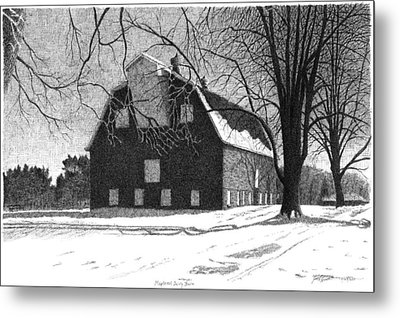 Barn 24 Maplenol Barn Metal Print by Joel Lueck
