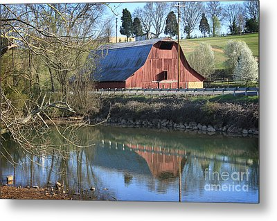 Barn And Reflections Metal Print